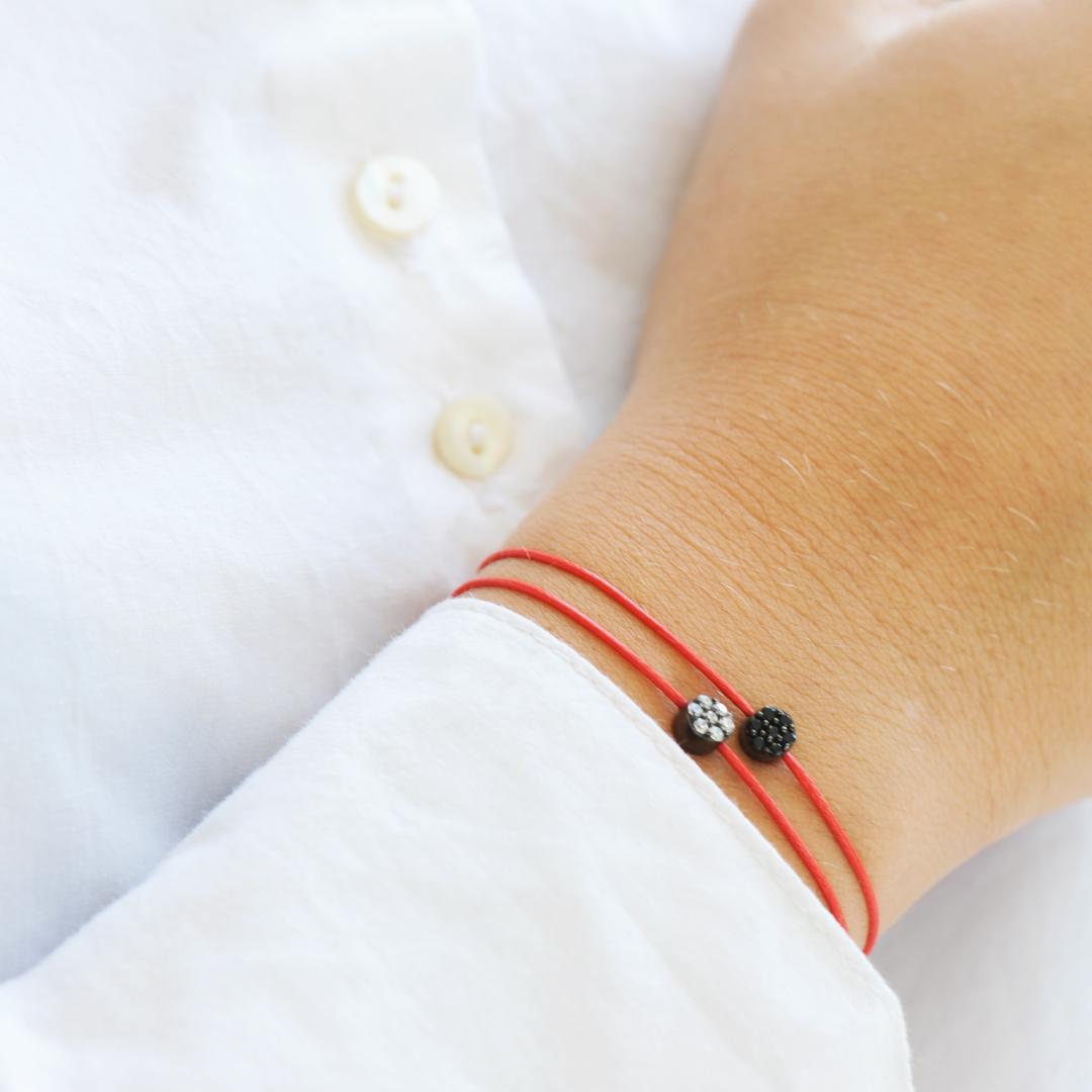 Bracelets Clear Spirit Elsa Lee Paris, oxydes de Zirconium sur cordons de couleurs