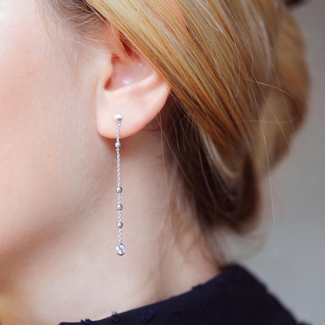 Boucles d'oreilles en Argent massif Elsa Lee Paris, collection Tradition