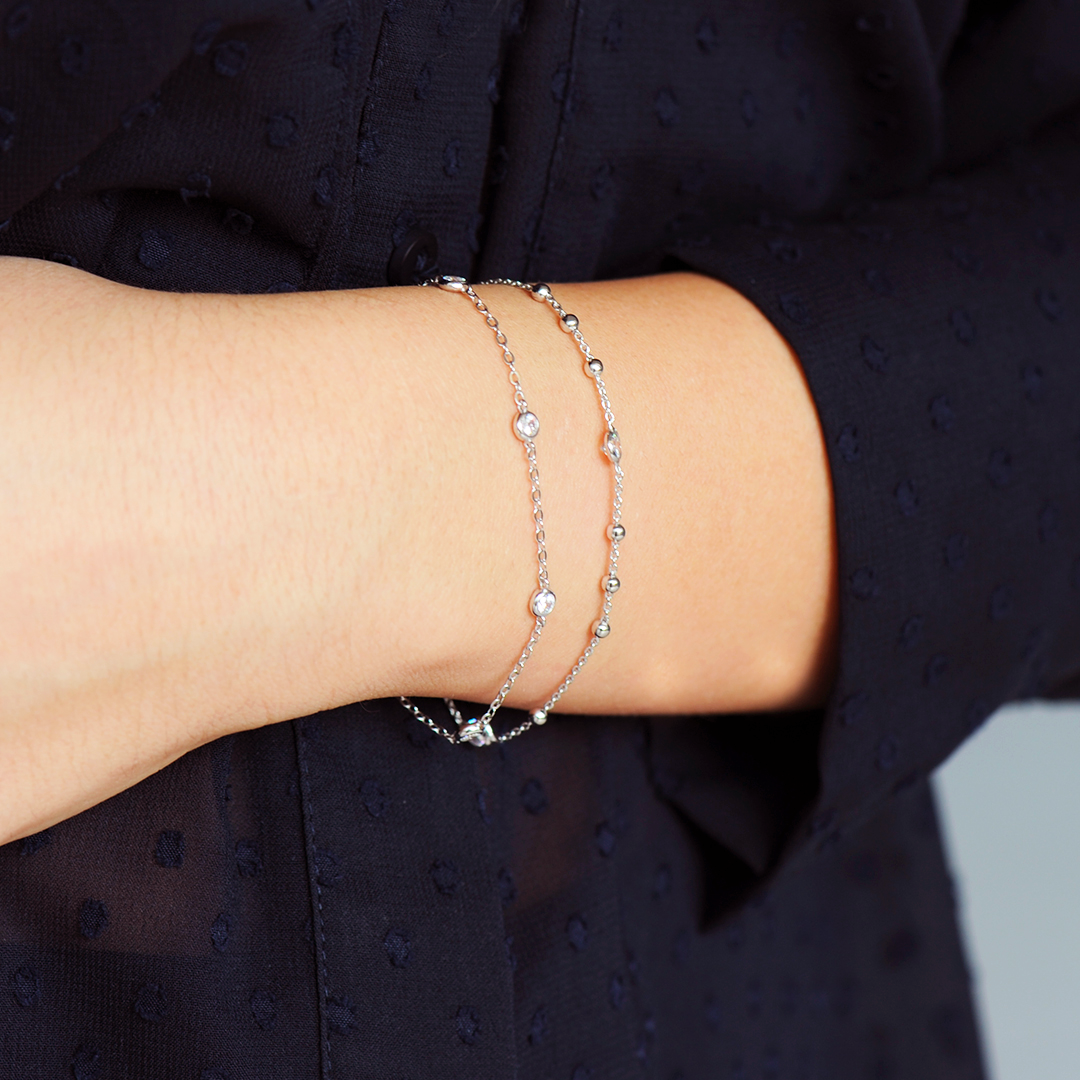 Bracelet en Argent massif Elsa Lee Paris, collection Tradition