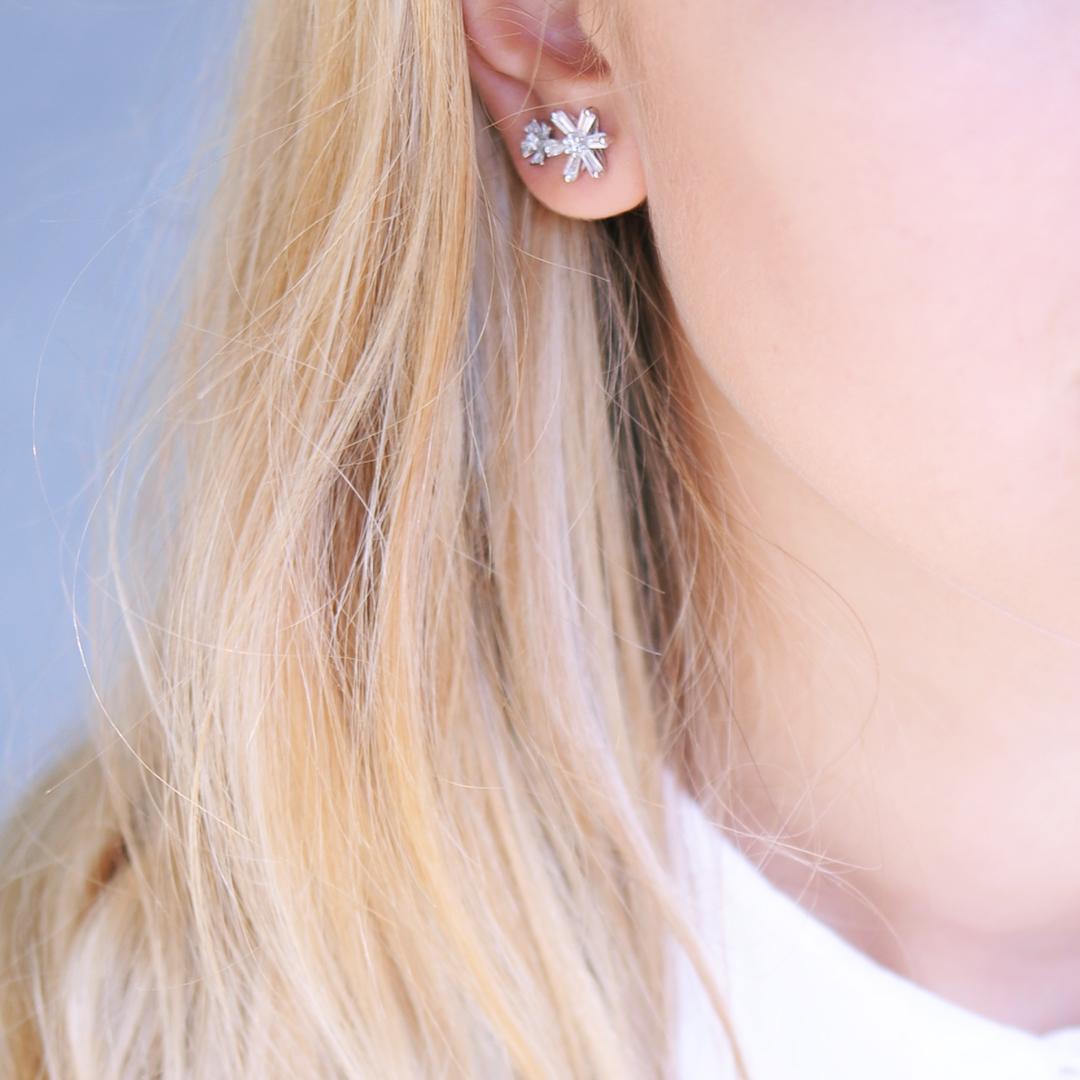 Boucles d'oreilles puces Daisy