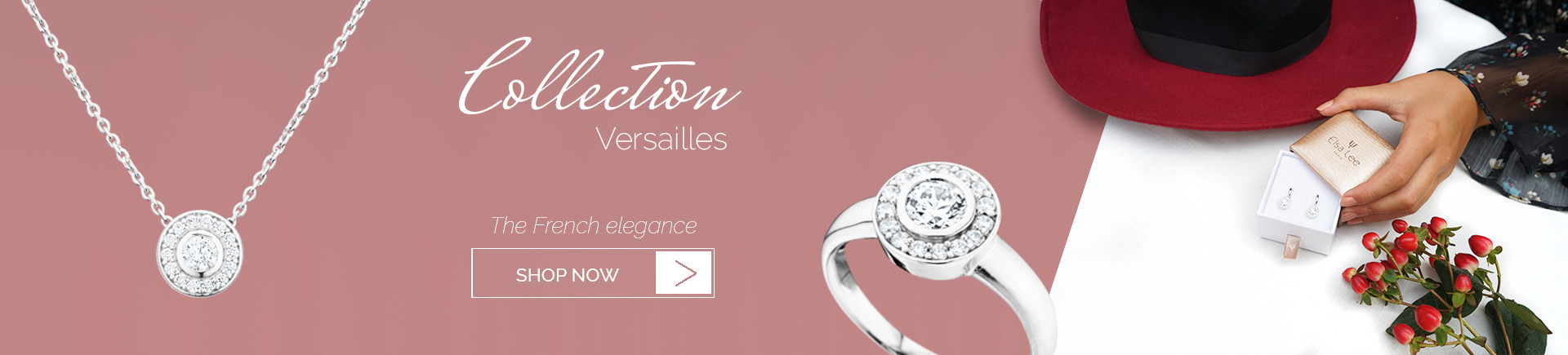 925 sterling silver and cubics of zirconia form the elegant Versailles collection